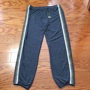 Monrow Gray Striped Jogger Pant